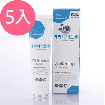 韓國APATITE鑽石系列牙膏-亮白130gX5