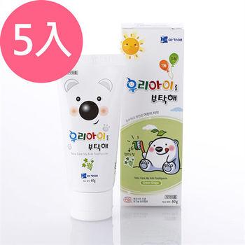 韓國寶貝熊兒童牙膏-葡萄60gX5