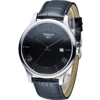 天梭 TISSOT Tradition 時尚腕錶 T0636101605800 黑