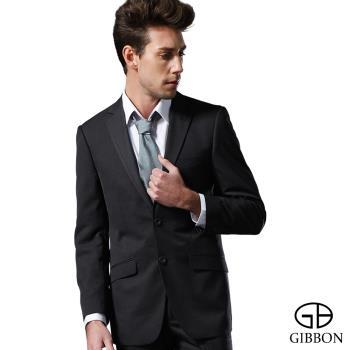 GIBBON 商務沉穩條紋西裝外套‧雲灰46~52