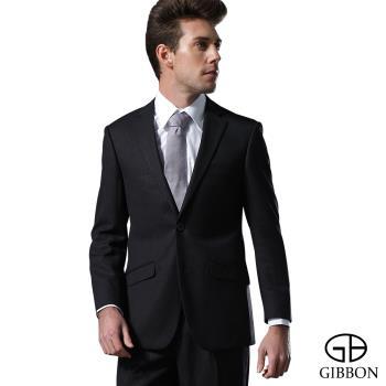 GIBBON 輕光澤星紋毛料西裝外套‧黑色46~50