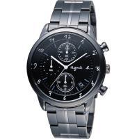 agnes b 悠緩步調 計時腕錶 BM3002J1 VD57 ^#45 00A0SD 黑