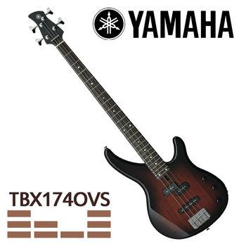 【YAMAHA 山葉】TRBX系列電貝斯/漸層-公司貨 (TRBX174 OVS)