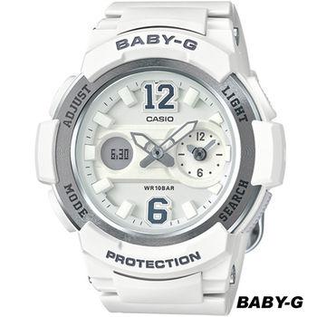 CASIO Baby-G 街頭運動錶 BGA-210-7B4 白x灰