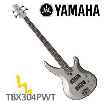 【YAMAHA 山葉】TRBX300系列電貝斯/白臘色-公司貨 (TRBX304 PWT)