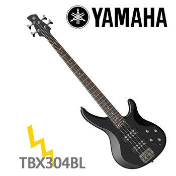 【YAMAHA 山葉】TRBX300系列電貝斯/黑色-公司貨 (TRBX304 BL)