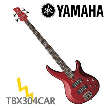【YAMAHA 山葉】TRBX300系列電貝斯/紅色-公司貨 (TRBX304 CAR)