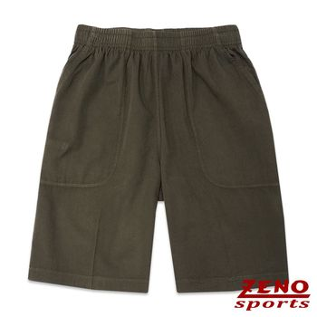ZENO傑諾 極致舒適涼感鬆緊短褲‧深綠L~3L