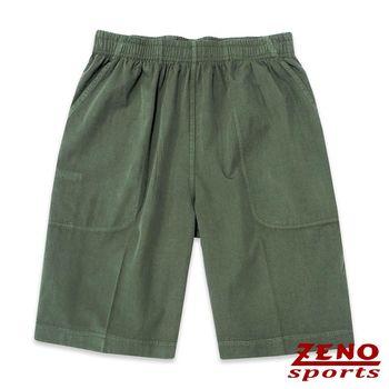 ZENO傑諾 極致舒適涼感鬆緊短褲‧綠色L~3L