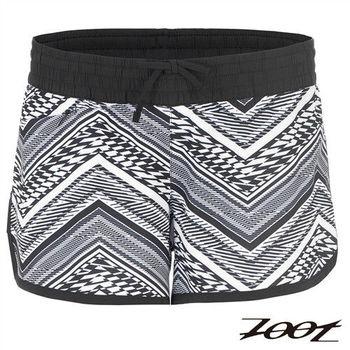 ZOOT 頂級極致冰涼感3吋綁帶式跑褲(女)(圖騰白) Z1604011