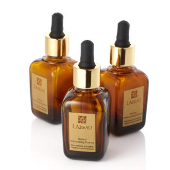 LA BEAU 玫瑰果油抗皺精華(30ml*3瓶)附極致導入亮眼按摩筆