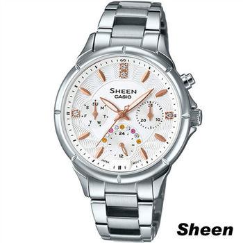 CASIO Sheen  經典簡約三眼設計時尚錶 SHE-3047D-7A