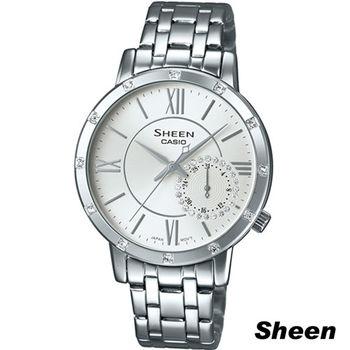 卡西歐 CASIO Sheen 經典簡約率性石英錶 SHE-3046DP-7A
