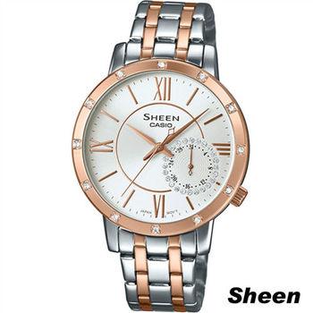 卡西歐 CASIO Sheen 經典簡約率性石英錶 SHE-3046SGP-7A