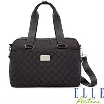 ELLE ACTIVE生活印記系列-旅行袋(黑色)