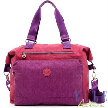 ELLE ACTIVE城市微旅行系列-旅行袋(桃紅色)