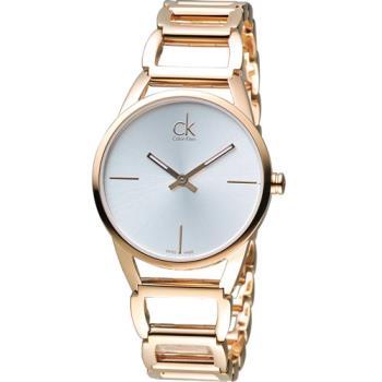 CK Calvin Klein 時尚鏤空手環錶  K3G23626