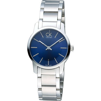 CK Calvin Klein 經典都會時尚女用錶 K2G2314N 藍