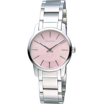 CK Calvin Klein 經典都會時尚女用錶 K2G2314E 粉貝面