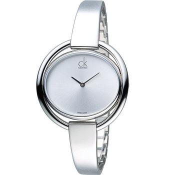 CK Calvin Klein 圈式鏤空經典造型腕錶 K4F2N116