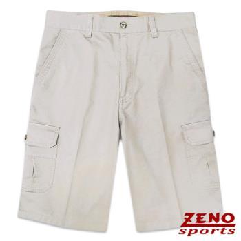 ZENO傑諾 水洗極簡純色休閒短褲‧淡卡其30~42
