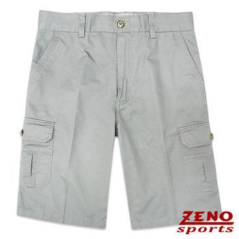ZENO傑諾 水洗極簡純色休閒短褲‧中灰30~42