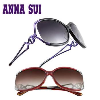 【ANNA SUI 】安娜蘇 優雅時尚金屬鏤空心型太陽眼鏡 ▪ model推薦款 (四色)