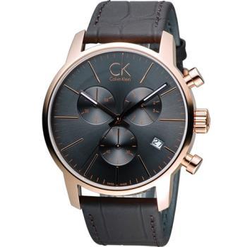 CK Calvin Klein 城市經典簡約石英計時腕錶 K2G276G3