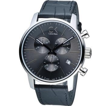 CK Calvin Klein 城市經典簡約石英計時腕錶 K2G271C3 灰