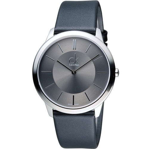 Calvin Klein Minimal 俐落時尚腕錶 K3M211C4 灰