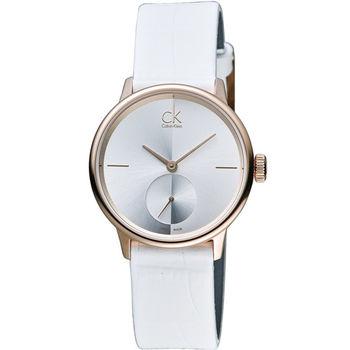Calvin Klein Unisex Accent 獨立式小秒針時尚腕錶 K2Y236K6