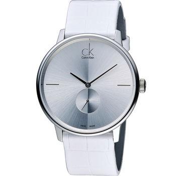 Calvin Klein Unisex Accent 獨立式小秒針時尚腕錶 K2Y211K6