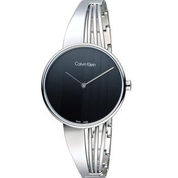 ck Calvin Klein Drift  曲線系列俐落簡約手環式腕錶 K6S2N111