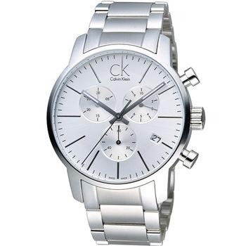 CK Calvin Klein 經典簡約石英計時腕錶 K2G27146
