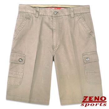 ZENO傑諾 經典水洗美型卡其短褲‧卡其色31~38