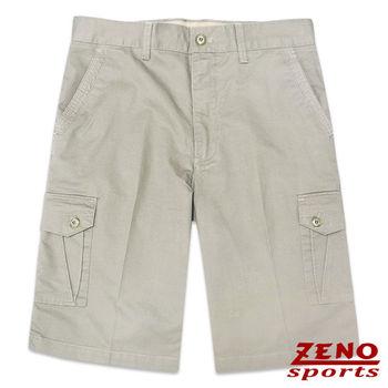 ZENO傑諾 水洗立體層次多口袋休閒短褲‧卡其色31~42