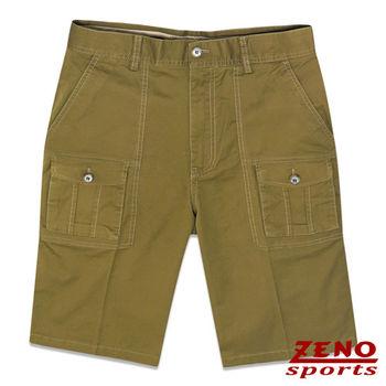 ZENO傑諾 超彈性精品休閒工作短褲‧褐色31~42