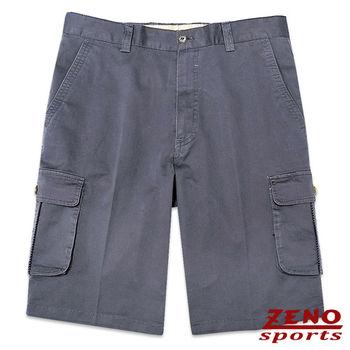 ZENO傑諾 精品精編裝飾休閒短褲‧鐵灰31~42