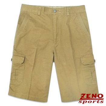 ZENO傑諾 水洗極簡純色休閒短褲‧褐色30~42