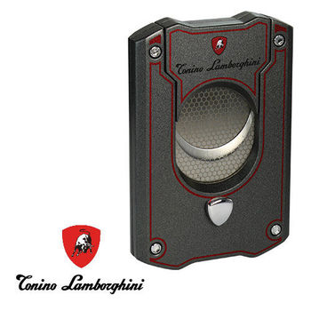 義大利 藍寶堅尼精品 - LES MANS CIGAR CUTTER 雪茄剪(鐵灰紅) ★ Tonino Lamborghini 原廠進口 ★