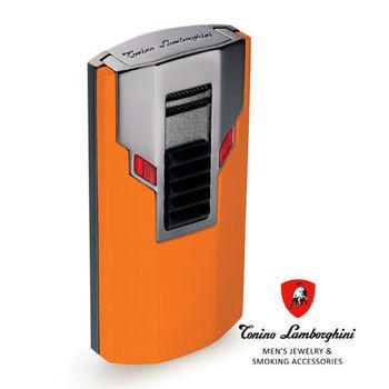 義大利 藍寶堅尼精品 - ESTREMO LIGHTER 打火機(橘色) ★ Tonino Lamborghini 原廠進口 ★