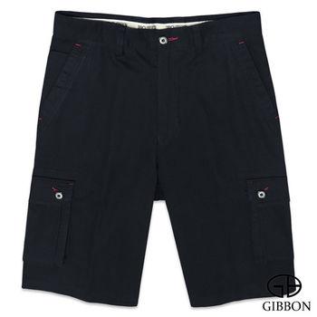 GIBBON 黑幕點綴時尚純棉短褲‧黑色30~42