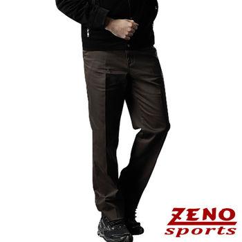 ZENO傑諾 高磅數水洗無摺休閒長褲‧咖啡31~40