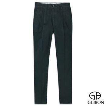 GIBBON 天絲棉透氣斜紋打摺褲‧暗藍31~42