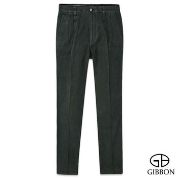 GIBBON 天絲棉透氣斜紋打摺褲‧暗綠30~42