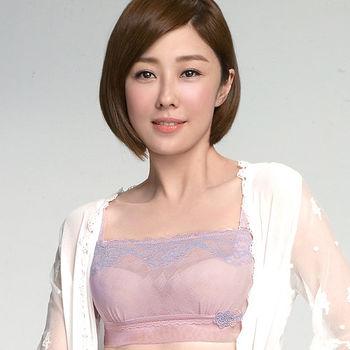 【Audrey】輕透V弧蝶 抹胸款 B-D罩內衣(粉色)
