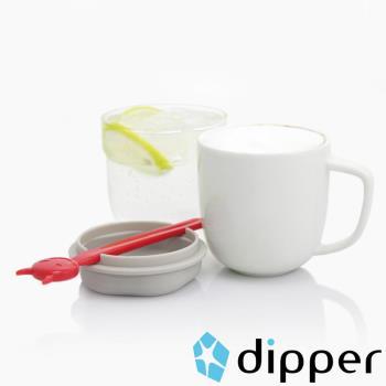 dipper 1++小惡魔雙杯組-馬克杯+玻璃杯子(紅色款)