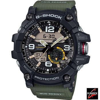 G-SHOCK 極限陸上強悍運動錶 GG-1000-1A3 綠x黑