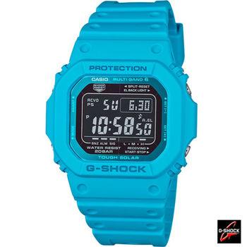 卡西歐 CASIO G-SHOCK 六局電波運動腕錶 GW-M5610MD-2 藍