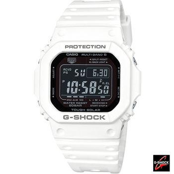 卡西歐 CASIO G-SHOCK 六局電波運動腕錶 GW-M5610MD-7 白
